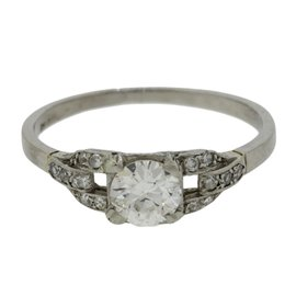 Platinum With 0.75ct Diamond Engagement Ring