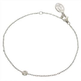 Cartier 18K White Gold Diamants Legers De Diamond Bracelet Size 6.25-7