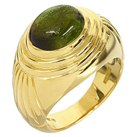 Boucheron 18K Yellow Gold Tourmaline Diablotine Design Ring
