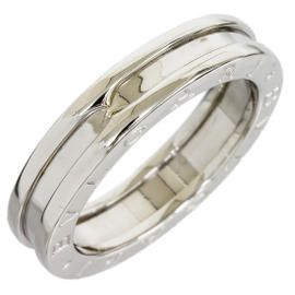 Bulgari B.Zero1 18K White Gold Band Ring Size 7.25