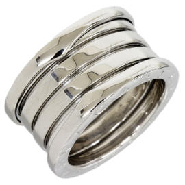 Bulgari B.Zero 1 4-Band 18K White Gold Ring Size 5.25