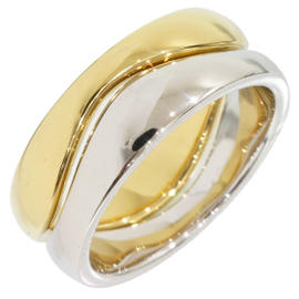 Cartier Love Me 18K White & Yellow Gold Ring Size 4.75