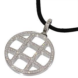 Cartier Pasha De 18K White Gold Pave Diamonds Pendant Necklace