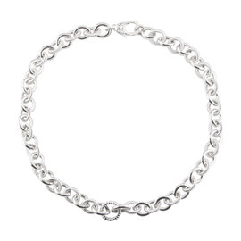 Judith Ripka 925 Sterling Silver Rolo Chain Link Necklace