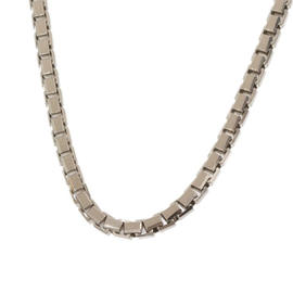 Cartier 18K White Gold Tank Chain Necklace