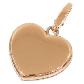 Cartier 18K Rose & White Gold Double Heart Charm Pendant