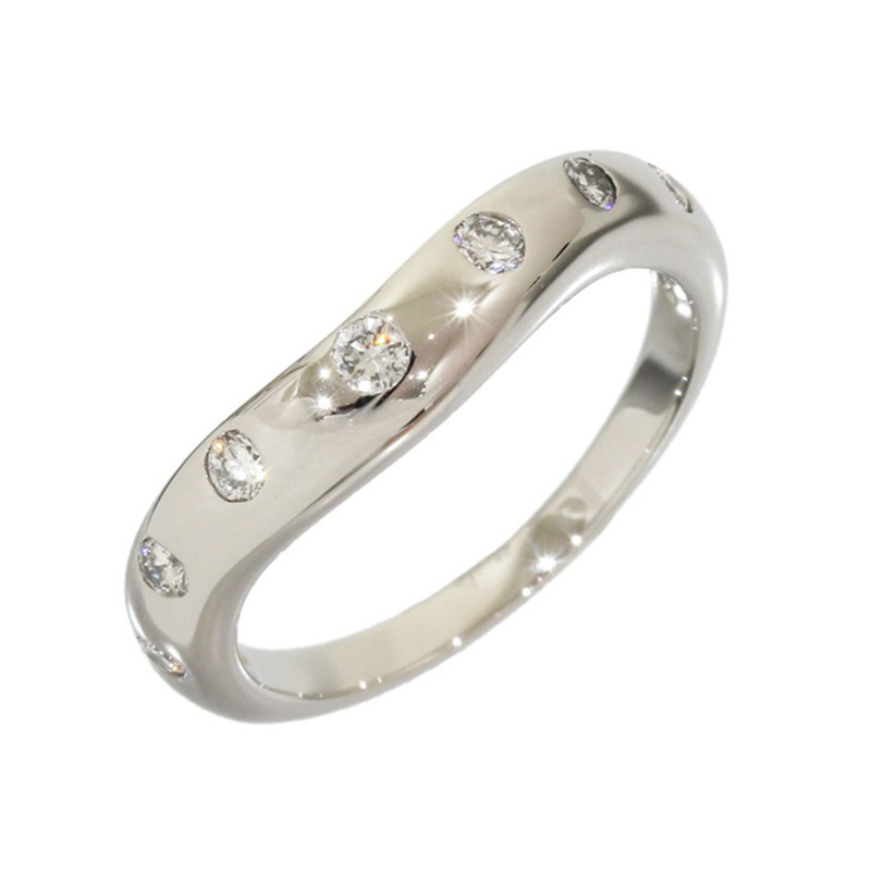 "Image of ""Bvlgari Bulgari Corona Platinum 0.07 Ct Diamond Band Ring Size Small"""