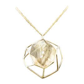 Ippolita 18K Yellow Gold Quartz Geometric Necklace