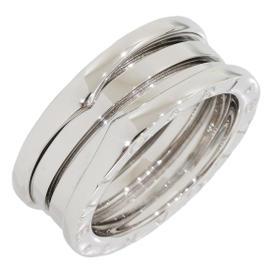 Bulgari 18K White Gold 3-Band Ring Size 7.5