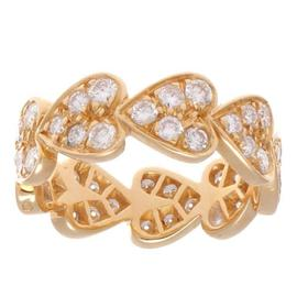 Cartier Hearts Of Diamonds Gold Ring Size 5