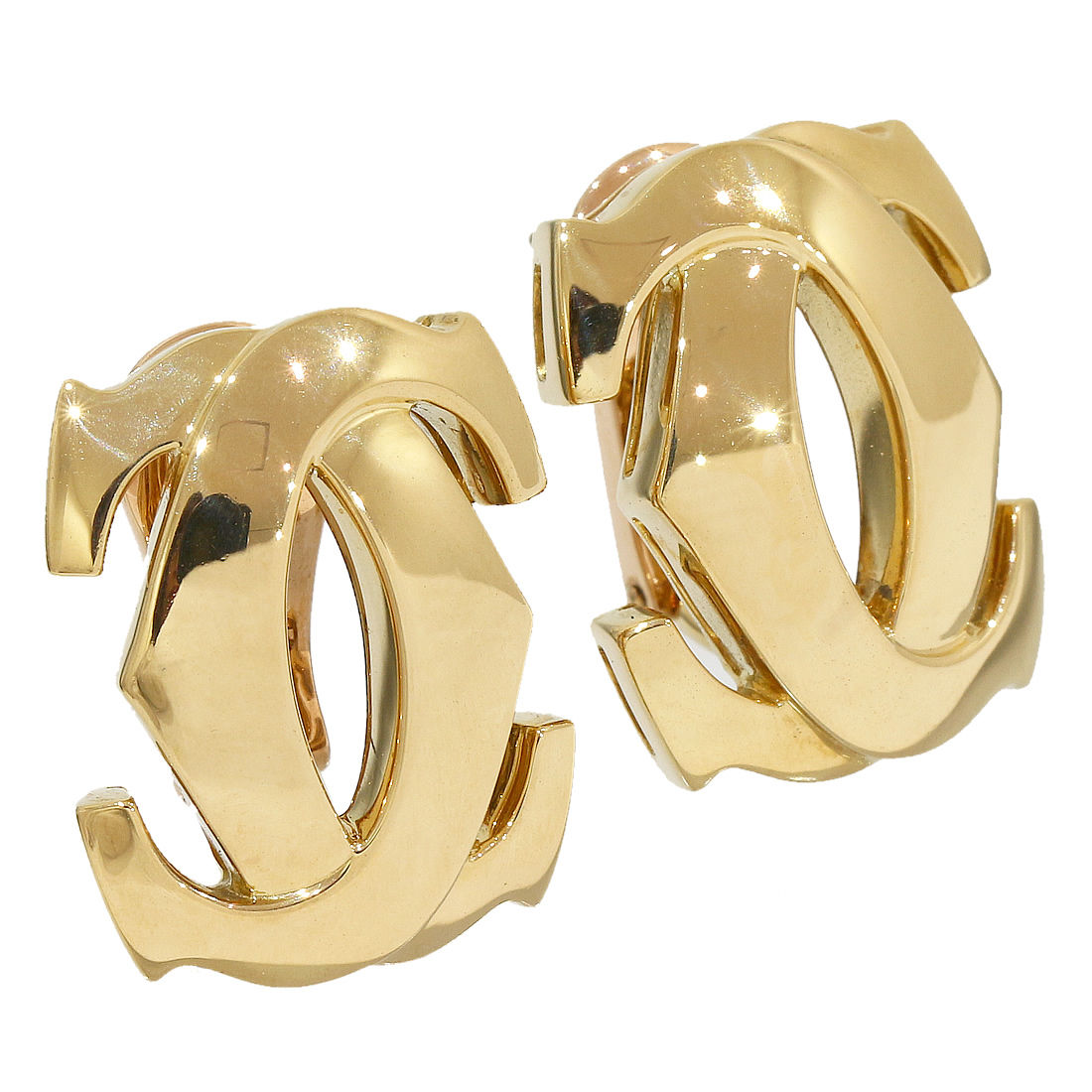 """Image of """"Cartier 18K Yellow Gold Penelope Double C Earring"""""""