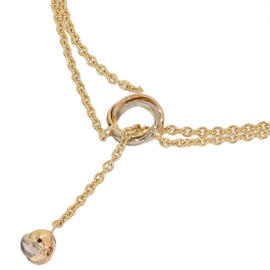 Cartier 18K Tri-color Gold Baby Trinity Lariat Knot Design Necklace