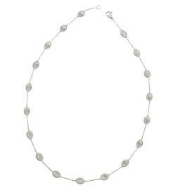 Marco Bicego Siviglia 18K White Gold Station Necklace
