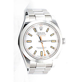 Rolex Milgauss 116400 White Dial Stainless Steel Oyster Band 40mm Mens Watch