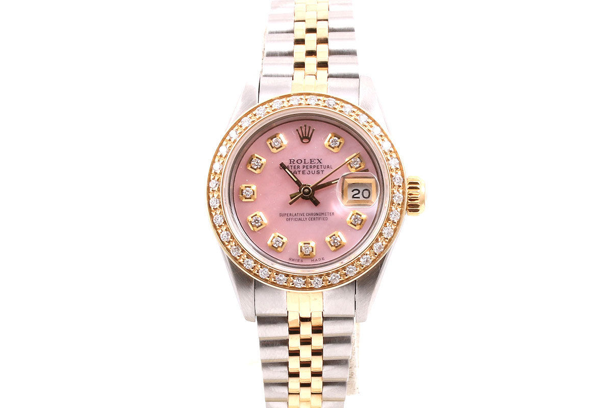 "Image of ""Rolex Datejust 18K Yellow Gold & Stainless Steel Pink Mother Of Pearl"""