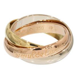Cartier 18K 3-Gold Trinity de 3 Bands Ring Size 4.75