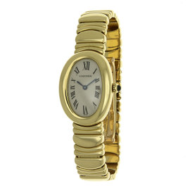 Cartier Baignoire 1954 18K Yellow Gold Quartz 22mm Womens Watch