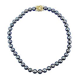 Mikimoto 18K Yellow Gold, Diamond & Tahitian Pearl Strand Necklace