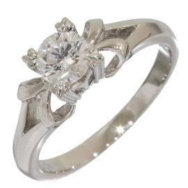Mikimoto 950 Platinum 0.38ct Diamond Ring Size 4.25