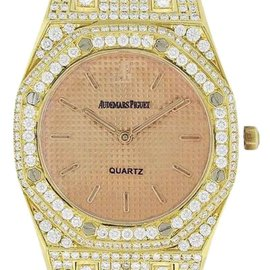 Audemars Piguet Royal Oak 67600BA.OO.1210BA.01 18K Yellow Gold 33mm Womens Watch
