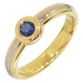 Cartier Trinity 18K Yellow Gold Sapphire Mono Stone Ring Size 6