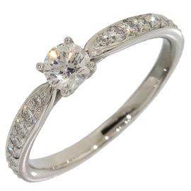 Tiffany & Co. 950 Platinum 0.24ct. Diamond Harmony Ring Size 5.25