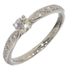 Tiffany & Co. 950 Platinum 0.22ct. Diamond Harmony Ring Size 5.25