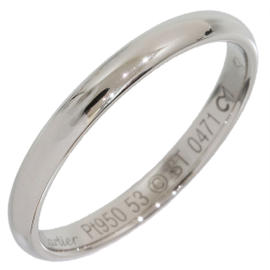 Cartier 950 Platinum Simple Wedding Band Ring Size 6.75