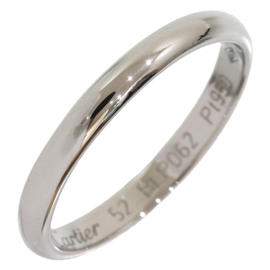 Cartier 950 Platinum Simple Wedding Band Ring Size 6.25