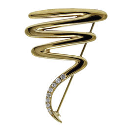 Tiffany & Co. 18K Yellow Gold Diamond Paloma Picasso Brooch