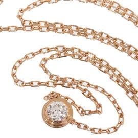 Cartier 18K Rose Gold Diamond Diamants Legers De Cartier Necklace