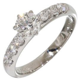 Mikimoto Platinum 950 Diamonds Ring Size 5