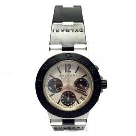Bulgari Diagono Aluminium & Rubber Beige Dial Automatic 38mm Men's Watch