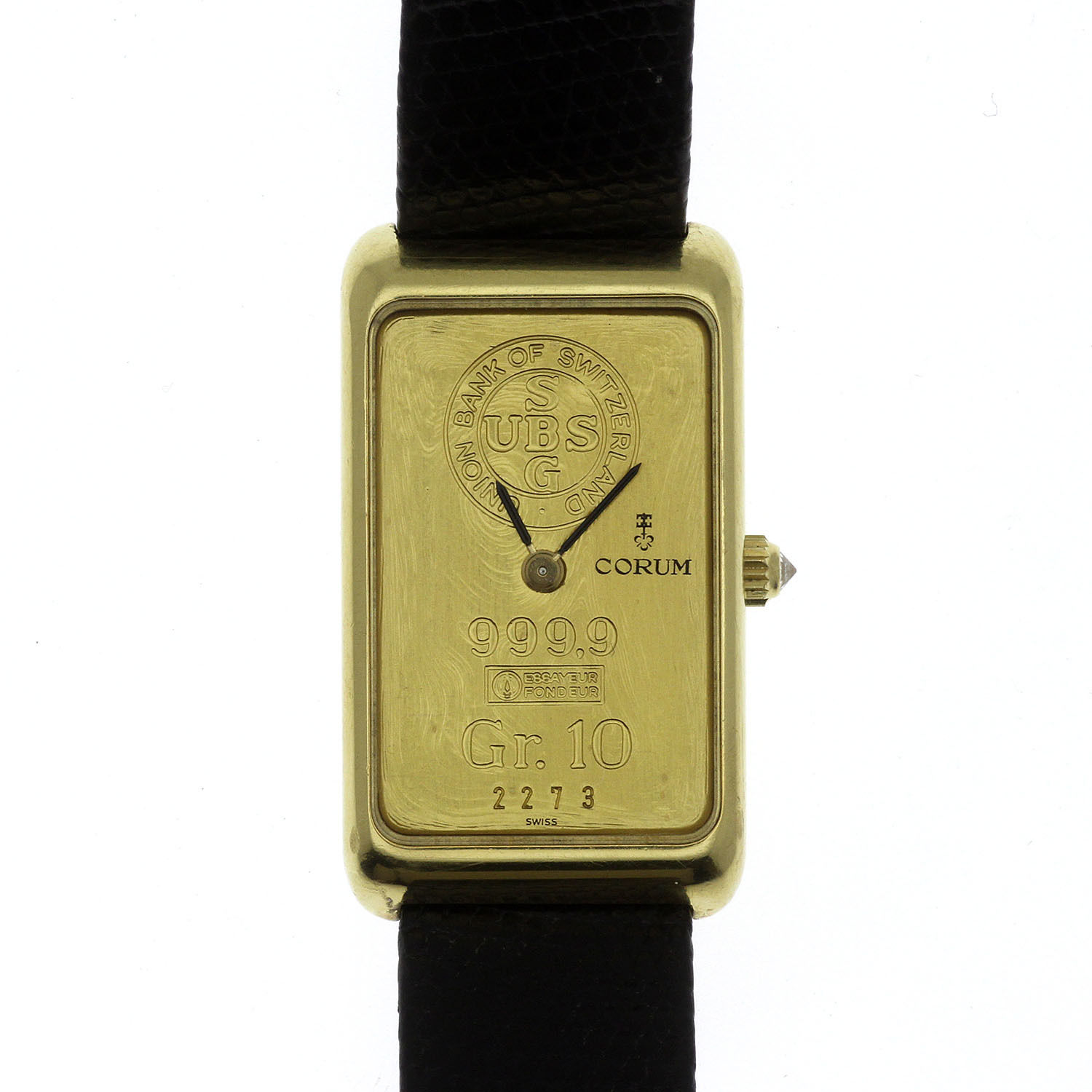 """Image of """"Corum 18K Yellow Gold & Leather Manual 21mm Mens Watch"""""""