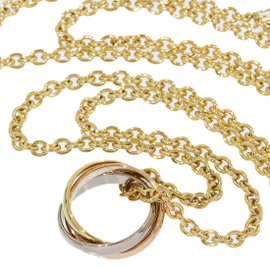 Cartier 18K Tri-color Gold Baby Trinity Chain Pendant Necklace