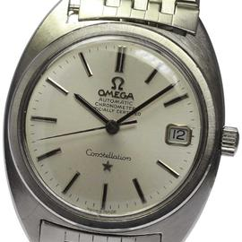 Omega Constellation Chronometer Stainless Steel Automatic 34mm Mens Wrist Watch
