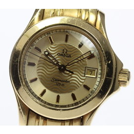 Omega Seamaster 2181.11 18K Yellow Gold with Gold Dial 28mm Womens Watch