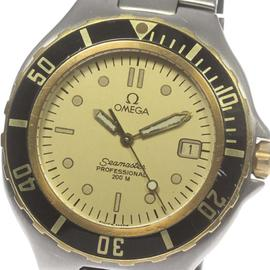Omega Seamaster Professional 200M Stainless Steel and Yellow Gold Gold Dial Quartz 36mm Mens Watch