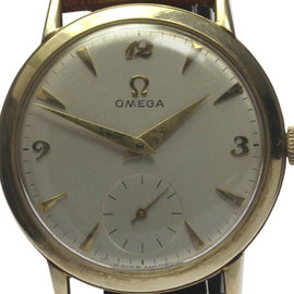 Omega Stainless Steel and Gold Plated Hand-winding 33mm Mens Wrist Watch