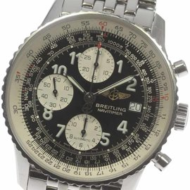 Breitling Navitimer A13322 Stainless Steel Black Dial Automatic 41mm Mens Wrist Watch