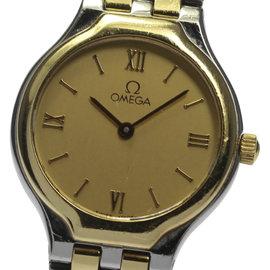 Omega Deville Stainless Steel / 18K Yellow Gold Quartz 23mm Womens Wrist Watch