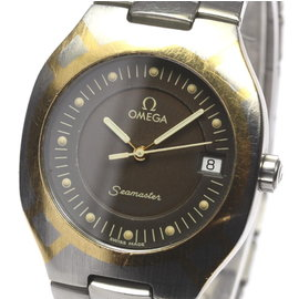 Omega Seamaster Polaris Stainless Steel and Yellow Gold Quartz 32mm Mens Wrist Watch