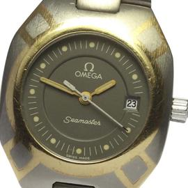 Omega Seamaster Polaris Titanium and Yellow Gold Quartz 25mm Womens Wrist Watch