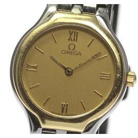 Omega Deville 18K Yellow Gold Quartz 23mm Womens Wrist Watch