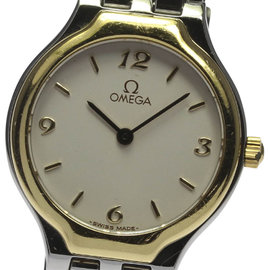 Omega Deville Stainless Steel and Yellow Gold Quartz 23mm Womens Wrist Watch