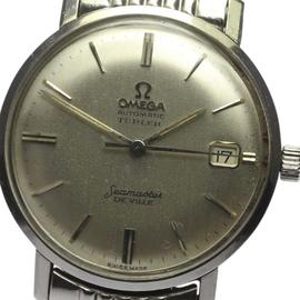 Omega Seamaster Deville 333811 Stainless Steel Date Automatic Rice Bracelet 34mm Mens Vintage Watch