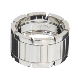 Cartier Tank Francaise 18K White Gold Ring Size 6.25
