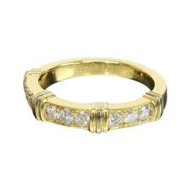 Cartier 18K Yellow Gold 0.09ct. Diamonds Contessa Ring Size 4.75