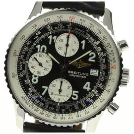 Breitling Navitimer A13322 Stainless Steel Leather Belt Automatic 41mm Mens Wrist Watch