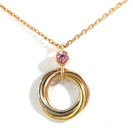 Cartier 18K White Rose & Yellow Gold Trinity Chain Necklace